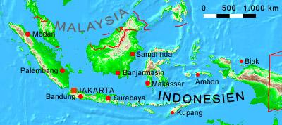 Indonesien Karte Physisch.Ihre Auswahl