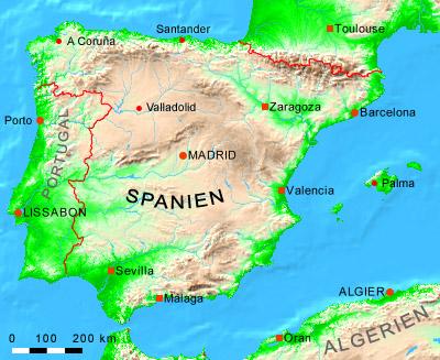 spanien norden karte